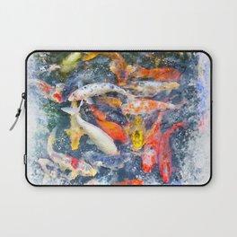 Koi Carp Splash Laptop Sleeve