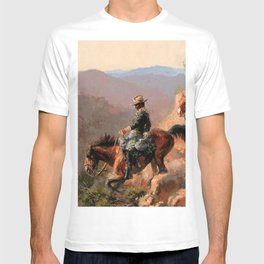 """Frederick Remington Western Art """"With the 10th Cavalry"""" T-shirt"""