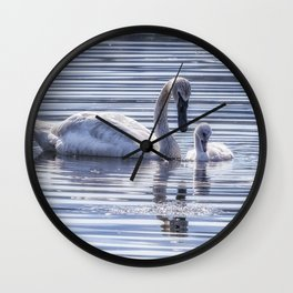 Cygnet with Mother Wall Clock