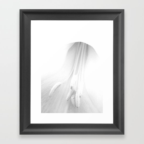 untitled white Framed Art Print