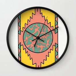 Aztec planet part1 Wall Clock