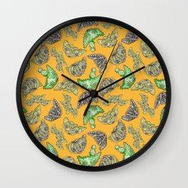 """Oro?"" Cactus Mustard Wall Clock"