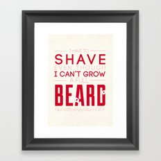 Beard Framed Art Print