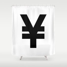 Yen Sign (Black & White) Shower Curtain
