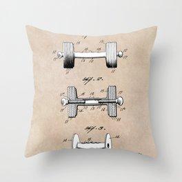 patent art Jowett Dumb Bell 1927 Throw Pillow
