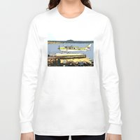 airplane Long Sleeve T-shirts featuring Airplane by Cindys