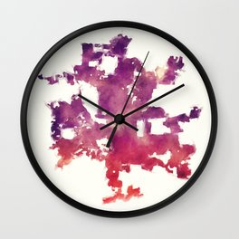 Columbus Ohio city watercolor map in front of a white background Wall Clock