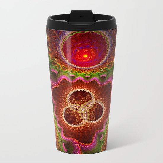 Balance and Chaos, modern fractal abstract Metal Travel Mug