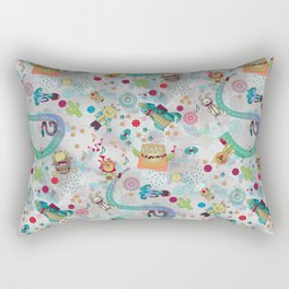 Alien Backpackers Rectangular Pillow