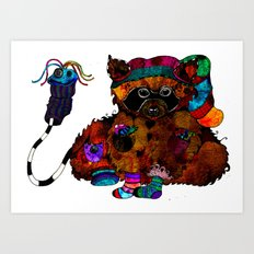 sock stealer Art Print
