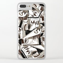 Silver Look Clear iPhone Case