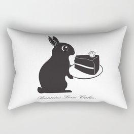 Bunnies Love Cake, Bunny Illustration, cake lovers, animal lover gift Rectangular Pillow