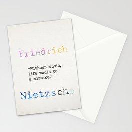 Friedrich Nietzsche quote 2 Stationery Cards