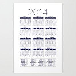 Jan C.P. Luna - 2014 Calender Poster - #13 Art Print