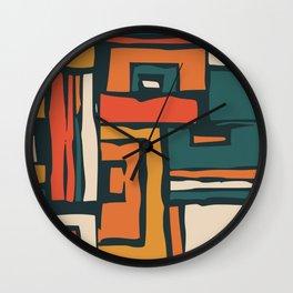 Maze abstract adventure Wall Clock