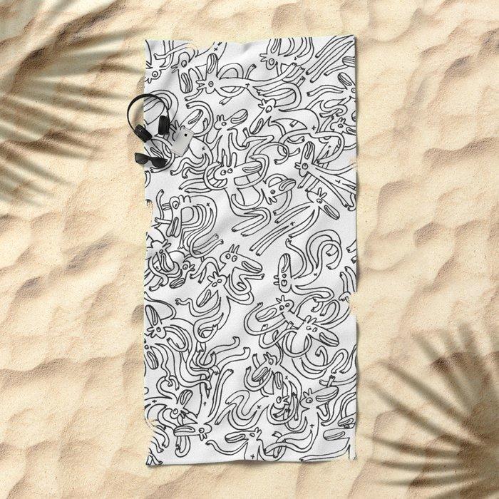 Garbled Beach Towel