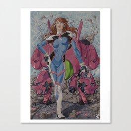 D.Va Mech Drop Canvas Print