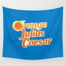 Orange Julius Caesar Wall Tapestry