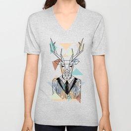 Geometric Deer Unisex V-Neck