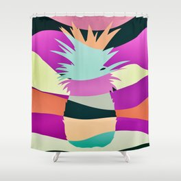 Sliced Abstract Ananas Shower Curtain