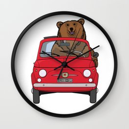 Bear in a red 500 Wall Clock