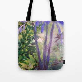 Purple Palms Tote Bag