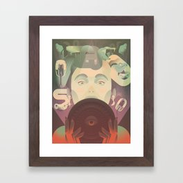 The Mirror Framed Art Print