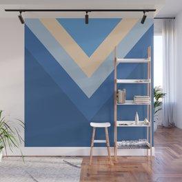 Blue Chevron Arrows Wall Mural