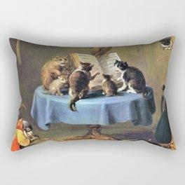 Cat Concert - David Teniers the Younger Rectangular Pillow
