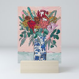 Australian Native Bouquet of Flowers after Matisse Mini Art Print