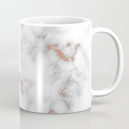 Rose gold gray and white marble Coffee Mug
