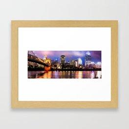 Cincinnati Skyline Panorama Framed Art Print