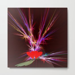 Firework of love .. Metal Print