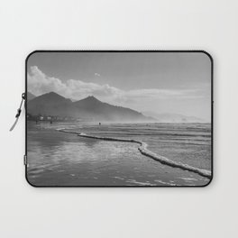 Beautiful Black and White Landscape at Cannon Beach Laptop Sleeve