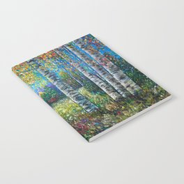 Nocturne Blue - Palette Knife by OLena Art  Notebook