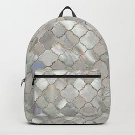 Quatrefoil Moroccan Pattern Mother of Pearl Backpack