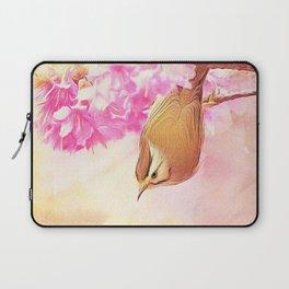 Taiwan Yuhina with Cherry Bloosom Laptop Sleeve