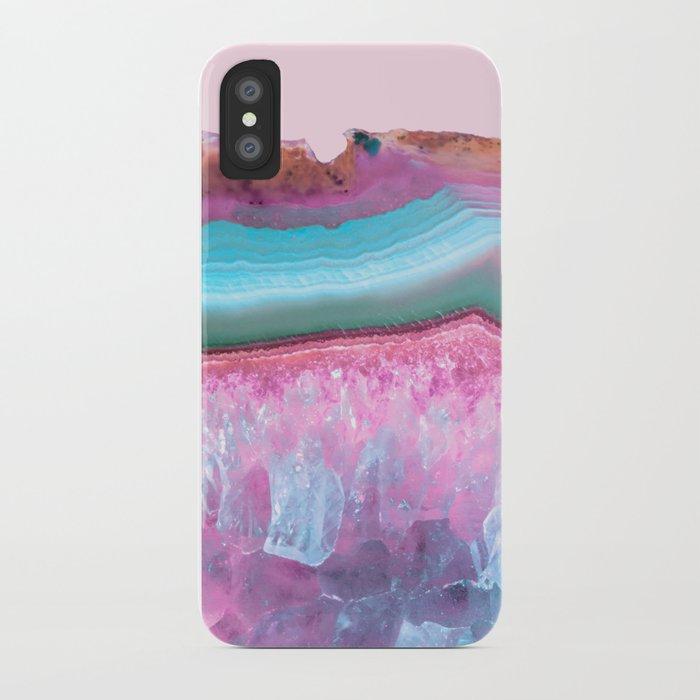 Rose Quartz and Serenity Agate iPhone Case