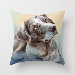 Catahoula Leopard Dog Throw Pillow