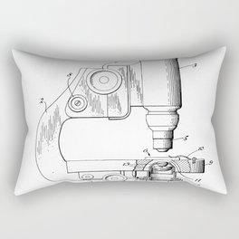 Microscope Patent - Scientist Art - Black And White Rectangular Pillow