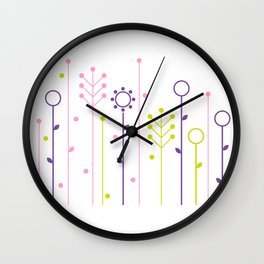 Beautiful colorful flowers Vector Illustration Wall Clock