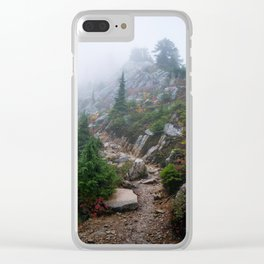 A foggy day Clear iPhone Case