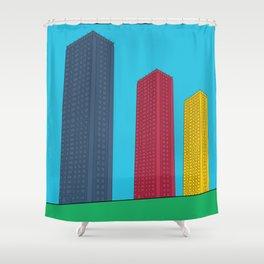 Triple High Rise Shower Curtain