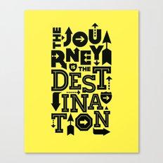 Yellow Journey Quote Canvas Print
