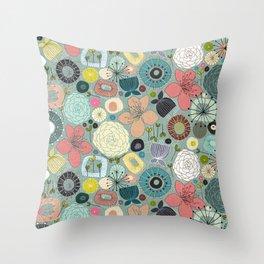 oriental blooms Throw Pillow