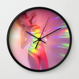 Valentine Rainbow Lover Wall Clock