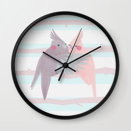Cockatiels Wall Clock