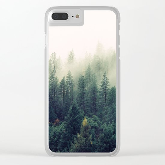 The Foggy Forest Clear iPhone Case
