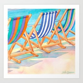 Beach Chairs 1 Art Print