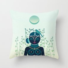 Indian woman Throw Pillow